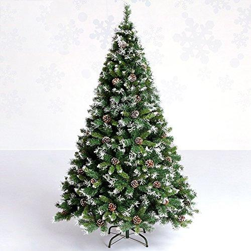 Teng Peng Christmas Tree - National Tree Snow Pine Cones Christmas Tree Encryption Leaves Green PVC Material Iron Stent Family Mall Decorations ^^ (Size : 90CM*150CM)
