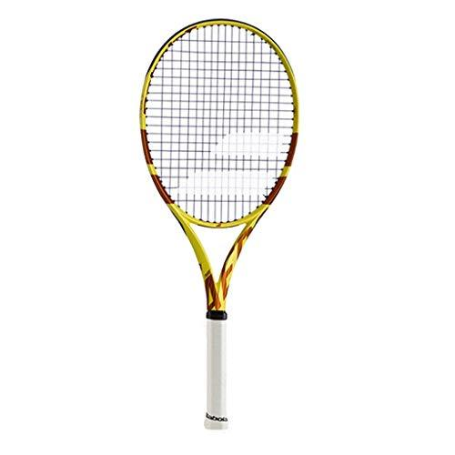 Tennis Rackets Adult Kids Lightweight (Color : Yellow and white-b, Size : 69cm/27 inches)