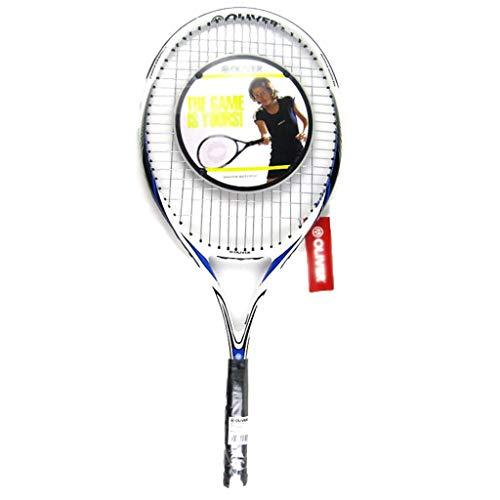 Tennis Rackets Youth Fiberglass Adult Kids Suitable For Beginners And Intermediate Players (Color : Black and white, Size : 69cm/27 inches)