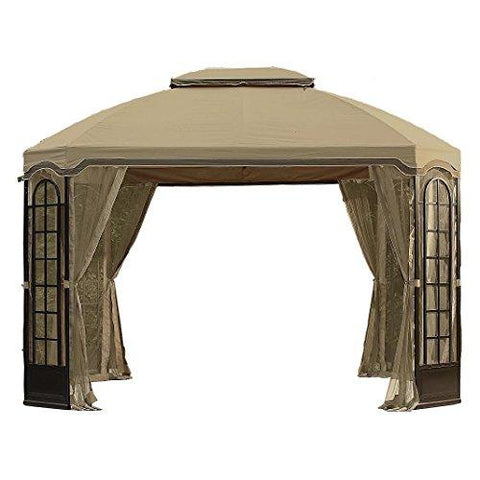 Terrace Gazebo Replacement Canopy and Netting - RipLock 350