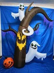 Thanksgiving Inflatable Decorations, Turkey/Ghost Tree/Pumpkin Ghost/Witch,Perfect Halloween Autumn LED Lights Decor Outdoor Indoor Holiday Decorations, Yard Lawn Decor Home Family Outside,Ghosttree
