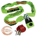 Thatcham Approved Chain & Lock 1.8m + Rocksolid Ground Anchor Motorcycle Motorbike Security Kit