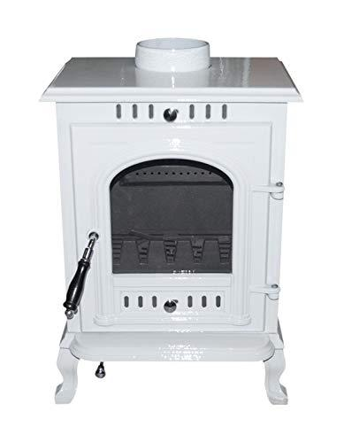 The Aspect Multi Fuel/Wood Burning Stove Blanco White Enamel DEFRA Appoved 5 KW Cast Iron 5 Yr Wty