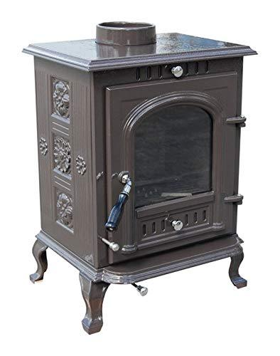 The Aspect Multi Fuel/Wood Burning Stove Pebble Grey Enamel DEFRA Appoved 5 KW Cast Iron 5 Yr Wty