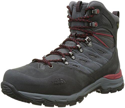 THE NORTH FACE Men's Hedgehog Trek Gore-tex High Rise Hiking Boots, Grey (Dark Shadow Grey/Rudy Red Tcp), 11 UK (45.5 EU)