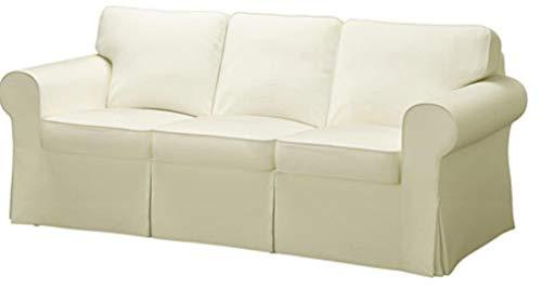 The Sofa Cover is 3 Seat Sofa Slipcover Replacement. It Fits Pottery Barn PB Basic Three Seat Sofa (Cotton Yellow)