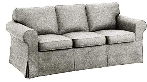 The Sofa Cover is 3 Seat Sofa Slipcover Replacement. It Fits Pottery Barn PB Basic Three Seat Sofa (Polyester Flax)