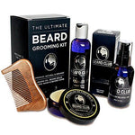 The Ultimate Beard Grooming Kit | 100% Natural & Organic | Gift Set Includes Premium Beard Oil, Balm, Shampoo, Comb & Box | The Best Gift for Men Who Love to Care for Their Beards