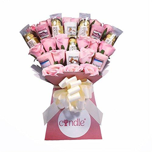 The Yankee Candle, Luxury Chocolate & Pink Rose Bouquet - Ferrero Rocher