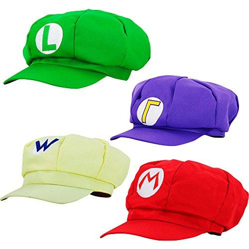 thematys Super Mario Hat Luigi Wario Waluigi - Adult & Kids Costume Set - Perfect for Carnival & Cosplay - Classic Cappy Cap