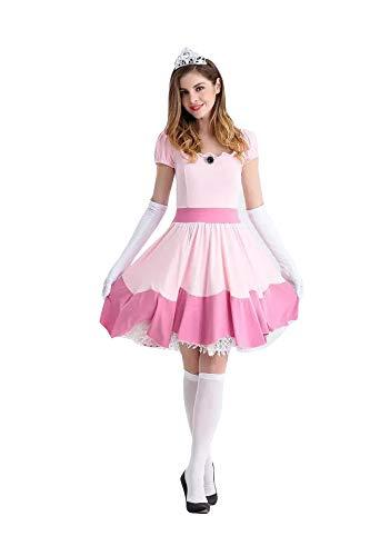 thematys Super Mario Princess Peach Dress - Costume Set for Women - Perfect for Carnival & Cosplay (Medium) 160cm - 165cm
