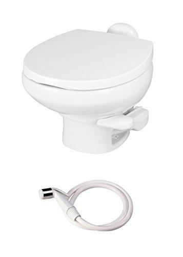 Thetford Aqua Magic Style II RV Toilet with Hand Sprayer/Low Profile/White 42061