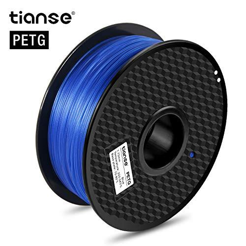 TIANSE Blue 1.75mm PETG 3D Printer Filament Dimensional Accuracy +/- 0.03 mm 2.2 pound Spool
