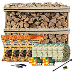 Tigerbox Fuel Bundle for Smokeless Zones Ready to Burn Logs, Kindling, Smokeless Ovals, Firelighters and More.