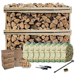 Tigerbox Fuel Bundle for Wood Burning Stoves Ready to Burn Kiln Dried Logs, Kindling, Wood Wool Natural Firelighters and More.