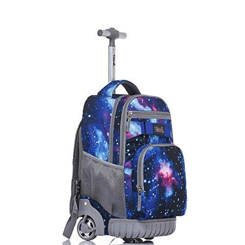 adbeb87372 ... Tilami Rolling Backpack 18 Inch for School Travel with Pencil Case