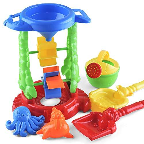 Timeracing 6Pcs Children Kids Outdoor Shovel Water Sprayer Sandbox Sand Beach Playing Toy Home Room Decoration Children Early Learn Education Toys Birthday Gift