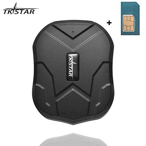 TKSTAR 3 Months Standby Real Time Anti-theft GPS Tracker for Vehicle Car with Strong Magnet 5000mah Battery With A Free DATA SIM CARD TK905