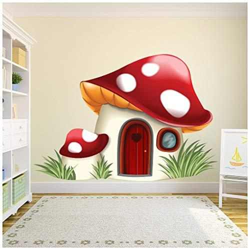 Toadstool House Wall Sticker Fairy Tale Fantasy Wall Decal Bedroom Nursery Decor available in 8 Sizes XXX-Large Digital