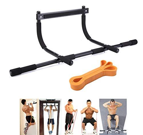 TODO Door Gym Bar with Assistant Bands Perfect Workouts for Pull-Up Chin-Up Push-Up Sit-Up Hanging Bands Exercise Portable and Detachable(New Designing)
