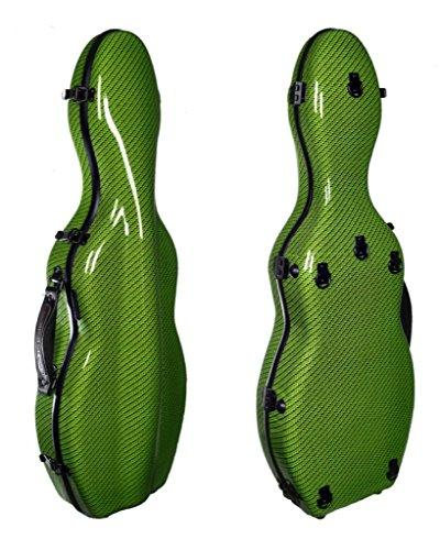 Tonareli Violin Fiberglass Case - Special Edition Green Checkered - 4/4 VNF1022