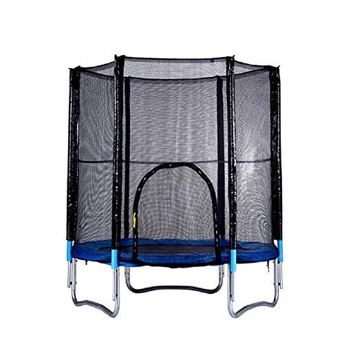 TOOWE Garden Trampoline, Kids Trampoline Complete Set Including Jumping Sheet, Safety Net, Padded Net Posts and Edge Cove