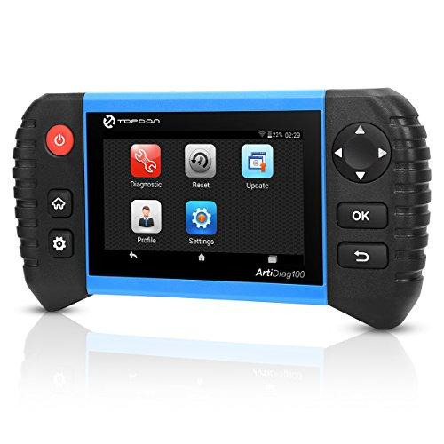 Topdon ArtiDiag100 OBD2 Car Diagnostic Tool, Scanner with Android Based 5 0  Touch Screen, All Systems with DPF/ABS/SAS/SRS/EPB/BMS Functions