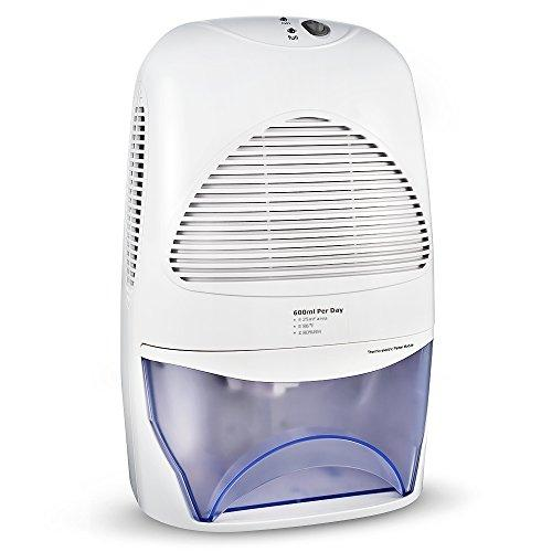 TOPELEK Compact Dehumidifier, 2L Whisper-Quiet Portable Dehumidifier for Bedroom, Home, Mini Air Dehumidifier, Absorb Condensation and Moisture in Office, Kitchen, Bathroom, Caravan, Garage