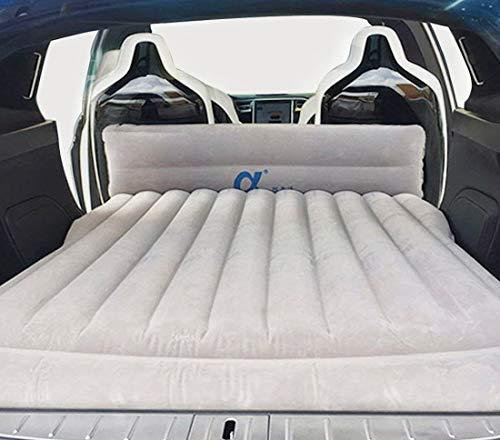 Topfit Camping Air Bed Car Travel Inflatable Mattress Universal for All SUV Cars and Customized for Tesla Model S and Model X 5 Seat and Model 3