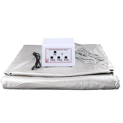 TOPQSC Beauty Weight Loss Blanket Sweat Steaming Body Shaper Blanket 3 Zones Digital Far-Infrared (FIR) Heat Sauna Slimming Blanket Detox Therapy Anti Ageing Body Home Beauty Machine