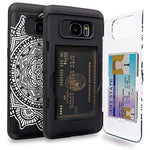 TORU CX PRO Galaxy S7 Edge Wallet Case Pattern Mandala with Hidden ID Slot Credit Card Holder Hard Cover & Mirror for Samsung Galaxy S7 Edge - Dreamcatcher
