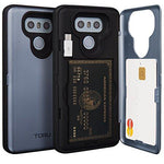 TORU CX PRO LG G6 Wallet Case Blue with Hidden ID Slot Credit Card Holder Hard Cover, Mirror & USB Adapter for LG G6 - Orchid Gray