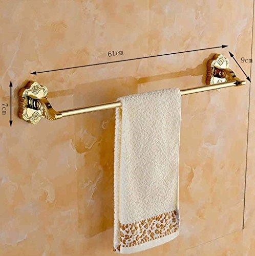 Towel Holder Copper, Gold-Plated Bath Rooms Carved Single Pole Towel Rail Towel Rail Trailer Hardware
