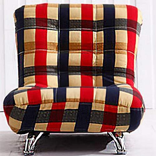 TOYSOFA Stripe children chair,Mini cotton linen Kid sofa seat Lazy soft Armrest chair couch Toddler furniture with removable cover for living room -F