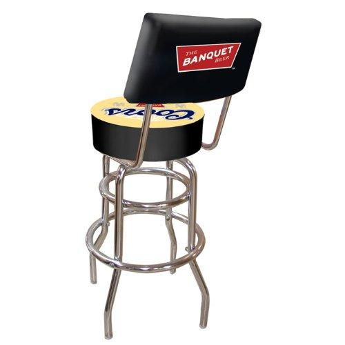 Trademark Gameroom Coors Banquet Padded Swivel Bar Stool with Back