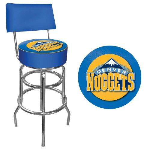 Trademark Gameroom NBA Denver Nuggets Padded Swivel Bar Stool with Back