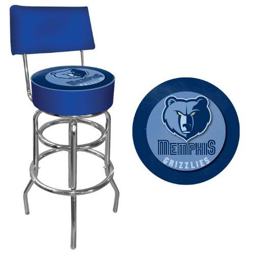 Trademark Gameroom NBA Memphis Grizzlies Padded Swivel Bar Stool with Back