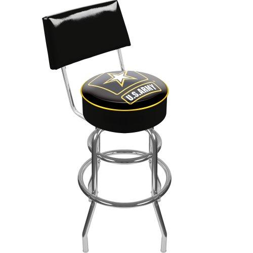 Trademark Gameroom United States Army Padded Swivel Bar Stool with Back