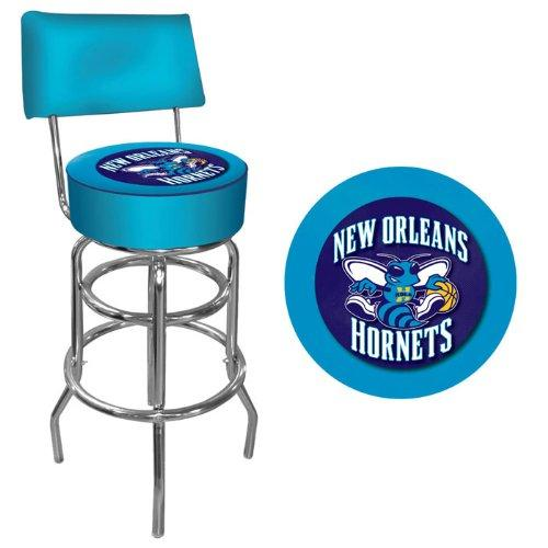 Trademark Games NBA New Orleans Hornets Padded Swivel Bar Stool with Back