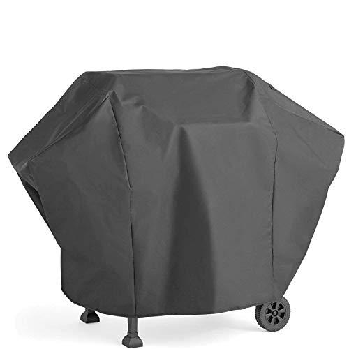 TRADERPLUS 57-inch Heavy Duty BBQ Gas Grill Cover for Weber, Holland, Jenn Air, Brinkmann and Char Broil with Storage Bag (UV & Dust & Water Resistant, Weather Resistant, Rip Resistant)