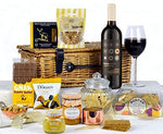 Traditional Food Hampers - Any Occasion Gift Hamper with Red Wine - Great Luxury Red Wine Hamper for Any Occasion - Birthdays, Anniversaries, Christmas, Thankyou etc.