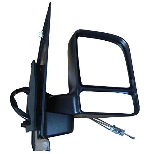 Transit Connect 2002,2003,2004,2005,2006,2007,2008,July 2009 Cable Control (Manual) Door Mirror/ Wing Mirror / Complete Mirror RH (Driver Side)