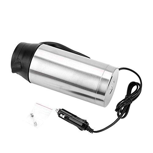 Travel Car Kettle 24V Heater Bottle Pot for Camping Boat Lorry Truck Cigarette Lighter Heating Kettle Electric Mug Thermos, 750ml Stainless Steel Drinking Cup