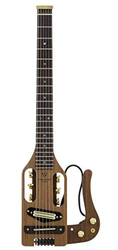 Traveler Guitar 6 String Pro-Series Deluxe (Mahogany) Hybrid Acoustic/Electric w/Gig Bag, Right, Natural Satin (PSD MHS)