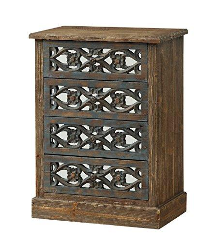 Treasure Trove Accents Four Drawer Chest, Wood, Natural