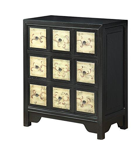 Treasure Trove Accents Three Drawer Chest, Wood, Texture