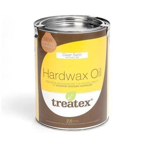 Treatex 008 New Hard Wax Oil Clear Satin 2.5 litre Tin.(Improved Formula)