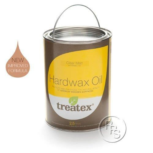 Treatex Clear Matt Hardwax Oil. 2.5 Litre. Protects & Enhances The Natural Beauty Of Wood.