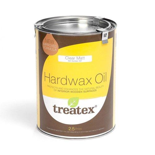 Treatex Hard Wax Oil - Clear Matt 007 - 2.5Ltr Tin. New Improved Formula