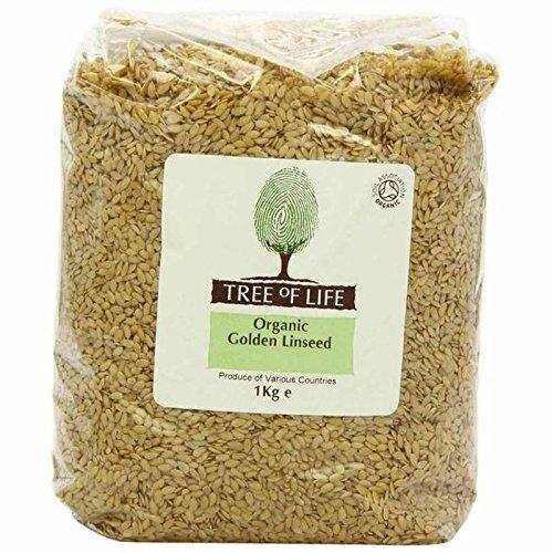 Tree of Life Organic Golden Linseed 1kg - Pack of 6